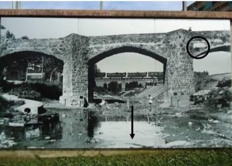 Riu Meder-pont del Remei_ placa inundacio 1863